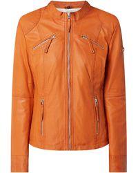Cabrini Lederjacke im Biker-Look - Orange