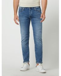 Mavi Slim Skinny Fit Jeans mit Stretch-Anteil Modell 'Yves' - Blau