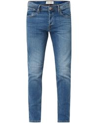 Jack & Jones Stone Washed Slim Fit Jeans - Blau