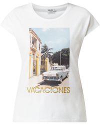 Liu Jo Shirt mit Foto-Print - Weiß