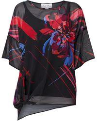 Ribkoff Blusenshirt mit floralem Muster - Schwarz