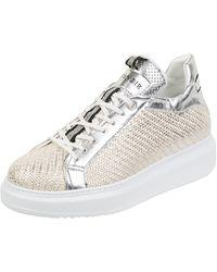 CafeNoir Sneaker in Flecht-Optik - Mettallic