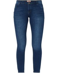 ONLY Stone Washed Skinny Fit Jeans - Blau