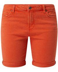 Esprit Jeansshorts aus Sweat Denim - Rot