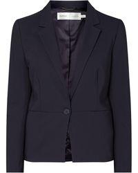 Inwear Blazer mit 1-Knopf-Verschluss - Blau