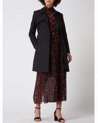 HUGO Trenchcoat Met Tailleriem, Model 'makaras' - Zwart