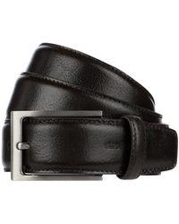 Strellson Ledergürtel mit Dornschließe aus Metall - Braun