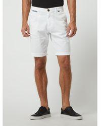 Tom Tailor Regular Slim Fit Chino-Shorts mit Stretch-Anteil Modell 'Josh' - Weiß