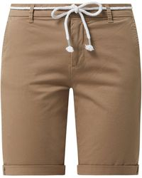 ONLY Chino-Shorts mit Stretch-Anteil Modell 'Paris' - Natur