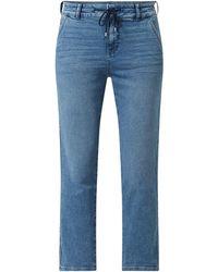 Edc By Esprit Cropped Boyfriend Fit Jeans mit Stretch-Anteil - Blau