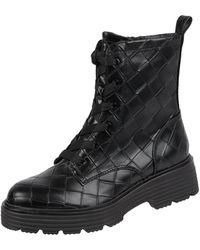 Tamaris Boots in Leder-Optik - Schwarz