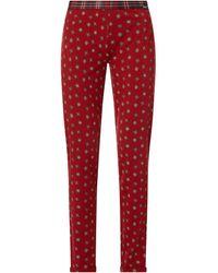SKINY Pyjamahose mit Weihnachtsmuster - Rot