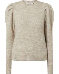 Gestuz Pullover mit Puffärmeln Modell 'Doa' - Natur
