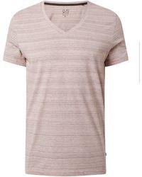 Q/S designed by Regular Fit T-Shirt mit V-Ausschnitt - Rot