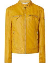 Cabrini Lederjacke im Biker-Look - Gelb