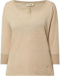 Mos Mosh Shirt mit Glitter-Effekt Modell 'Kiara' - Mettallic
