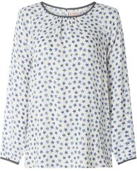 LIEBLINGSSTÜCK Blusenshirt aus Viskose Modell 'Erika' - Blau