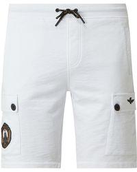 Aeronautica Militare Sweatshorts mit Cargotaschen - Weiß