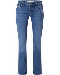 Mavi Straight Fit Low Rise Jeans mit Stretch-Anteil Modell 'Olivia' - Blau