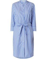 Eterna Blusenkleid aus Baumwolle - Blau