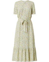 Jake*s Casual Kleid aus Viskose mit floralem Muster - Blau