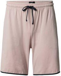 BOSS by HUGO BOSS Sweatshorts mit Label-Stitching - Pink