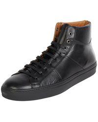 Cinque High Top Sneaker aus Leder Modell 'Cifrederico' - Schwarz