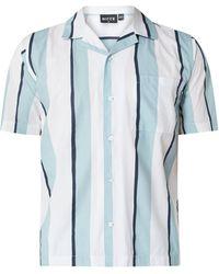 Nicce London Regular Fit Freizeithemd aus Baumwolle mit kurzem Arm - Blau
