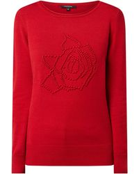 Comma, - Pullover mit Kontrastdetail - Lyst