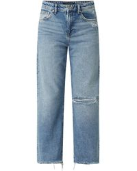 Mavi Straight Fit High Waist Jeans mit Bio-Baumwolle Modell 'Barcelona' - Blau