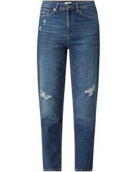 Q/S designed by Mom Fit Jeans mit Stretch-Anteil - Blau