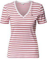 Tommy Hilfiger T-shirt Met V-hals - Rood
