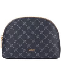 Joop! Kosmetiktasche mit Logo-Muster - Blau