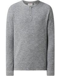 s.Oliver RED LABEL Regular Fit Serafino-Shirt aus Baumwollmischung - Blau