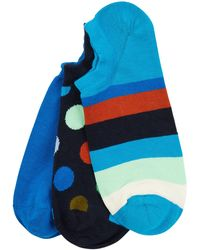 Happy Socks Sneakersocken mit Stretch-Anteil im 3er-Pack - Blau