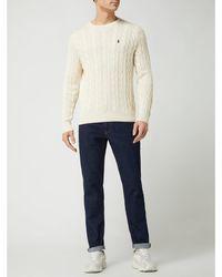 Polo Ralph Lauren Gebreide Pullover Met Kabelpatroon - Wit