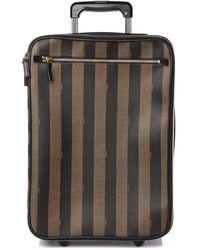 Fendi Pequin Spalmati Carry On Luggage Tobacco - Multicolor