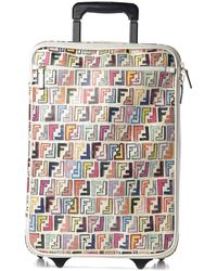 Fendi Zucca Spalmati Forever Carry On Luggage Multicolor