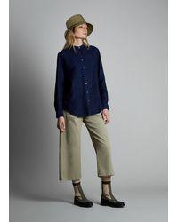 Fay Camicia Collo alla Coreana - Blu