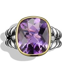 David Yurman - Noblesse Ring With Amethyst And Gold - Lyst