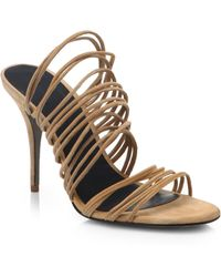 Alexander Wang Mathilde Strappy Suede Sandals - Lyst