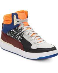 Alexander McQueen x Puma Brace Leather High-Top Sneakers - Lyst