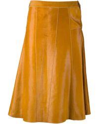 Derek Lam A-line Seamed Skirt - Lyst
