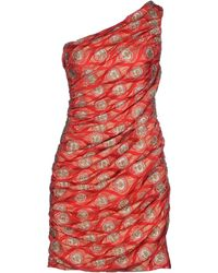 Jay Ahr Short Dress red - Lyst