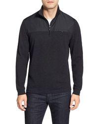 Bugatchi | Long Sleeve Quarter Zip Knit Sweatshirt | Lyst