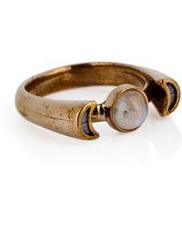 Pamela Love Bronze Luna Ring - Lyst