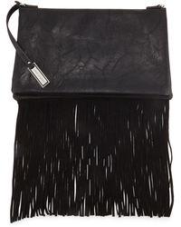 Urban Originals - Faux-Leather Fringe Clutch Bag - Lyst