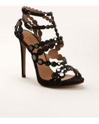 Azzedine Alaia Embellished Suede Shoes Azzedine Alaa Black Suede