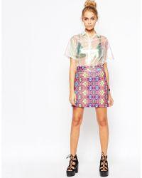 Jaded London - Pink Festival Skirt - Lyst