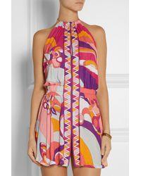 Emilio Pucci Printed Jersey Halterneck Dress - Lyst